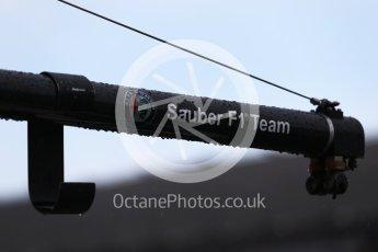World © Octane Photographic Ltd. Formula 1 – French GP - Practice 3. Sauber logo. Circuit Paul Ricard, Le Castellet, France. Saturday 23rd June 2018.