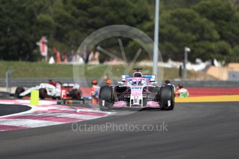 World © Octane Photographic Ltd. Formula 1 – French GP - Race. Sahara Force India VJM11 - Sergio Perez. Circuit Paul Ricard, Le Castellet, France. Sunday 24th June 2018.
