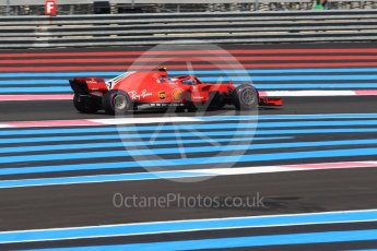 World © Octane Photographic Ltd. Formula 1 – French GP - Race. Scuderia Ferrari SF71-H – Kimi Raikkonen. Circuit Paul Ricard, Le Castellet, France. Sunday 24th June 2018.