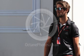 World © Octane Photographic Ltd. Formula 1 – French GP - Paddock. Haas F1 Team - Romain Grosjean. Circuit Paul Ricard, Le Castellet, France. Friday 22nd June 2018.