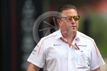 World © Octane Photographic Ltd. Formula 1 - French GP - Paddock. Zak Brown - Executive Director of McLaren Technology Group.  Circuit Paul Ricard, Le Castellet, France. Saturday 23rd June 2018.