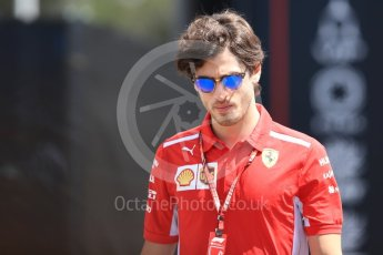 World © Octane Photographic Ltd. Formula 1 - French GP - Paddock. Antonio Giovinazzi – Third Driver for Scuderia Ferrari. Circuit Paul Ricard, Le Castellet, France. Sunday 24th June 2018.