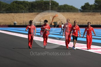 World © Octane Photographic Ltd. Formula 1 – French GP - Track Walk. Scuderia Ferrari SF71-H – Sebastian Vettel. Circuit Paul Ricard, Le Castellet, France. Thursday 21st June 2018.