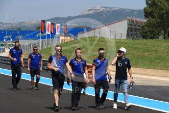 World © Octane Photographic Ltd. Formula 1 – French GP - Track Walk. Scuderia Toro Rosso STR13 – Pierre Gasly. Circuit Paul Ricard, Le Castellet, France. Thursday 21st June 2018.