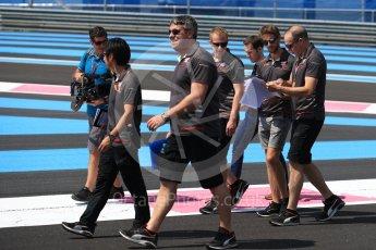 World © Octane Photographic Ltd. Formula 1 – French GP - Track Walk. Haas F1 Team VF-18 – Romain Grosjean. Circuit Paul Ricard, Le Castellet, France. Thursday 21st June 2018.