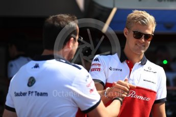 World © Octane Photographic Ltd. Formula 1 – French GP - Pit Lane. Alfa Romeo Sauber F1 Team C37 – Marcus Ericsson. Circuit Paul Ricard, Le Castellet, France. Thursday 21st June 2018.