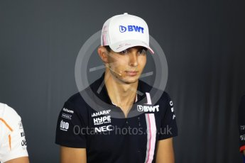 World © Octane Photographic Ltd. Formula 1 – French GP - Thursday Driver Press Conference. Sahara Force India - Esteban Ocon. Circuit Paul Ricard, Le Castellet, France. Thursday 21st June 2018.
