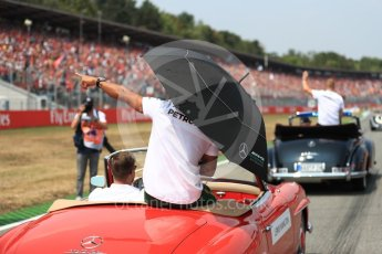 World © Octane Photographic Ltd. Formula 1 – German GP - Drivers' Parade. Mercedes AMG Petronas Motorsport AMG F1 W09 EQ Power+ - Lewis Hamilton. Hockenheimring, Baden-Wurttemberg, Germany. Sunday 22nd July 2018.
