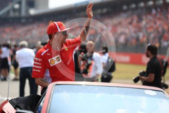 World © Octane Photographic Ltd. Formula 1 – German GP - Drivers' Parade. Scuderia Ferrari SF71-H – Kimi Raikkonen. Hockenheimring, Baden-Wurttemberg, Germany. Sunday 22nd July 2018.