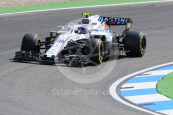 World © Octane Photographic Ltd. Formula 1 – German GP - Practice 1. Williams Martini Racing FW41 – Sergey Sirotkin. Hockenheimring, Baden-Wurttemberg, Germany. Friday 20th July 2018.