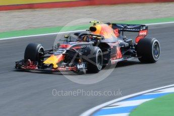 World © Octane Photographic Ltd. Formula 1 – German GP - Practice 1. Aston Martin Red Bull Racing TAG Heuer RB14 – Max Verstappen. Hockenheimring, Baden-Wurttemberg, Germany. Friday 20th July 2018.