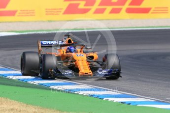 World © Octane Photographic Ltd. Formula 1 – German GP - Practice 1. McLaren MCL33 – Fernando Alonso. Hockenheimring, Baden-Wurttemberg, Germany. Friday 20th July 2018.