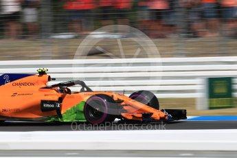 World © Octane Photographic Ltd. Formula 1 – German GP - Practice 1. McLaren MCL33 – Stoffel Vandoorne. Hockenheimring, Baden-Wurttemberg, Germany. Friday 20th July 2018.