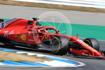 World © Octane Photographic Ltd. Formula 1 – German GP - Practice 1. Scuderia Ferrari SF71-H – Sebastian Vettel. Hockenheimring, Baden-Wurttemberg, Germany. Friday 20th July 2018.