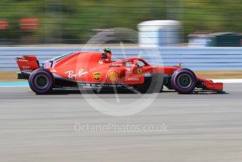World © Octane Photographic Ltd. Formula 1 – German GP - Practice 2. Scuderia Ferrari SF71-H – Kimi Raikkonen. Hockenheimring, Baden-Wurttemberg, Germany. Friday 20th July 2018.