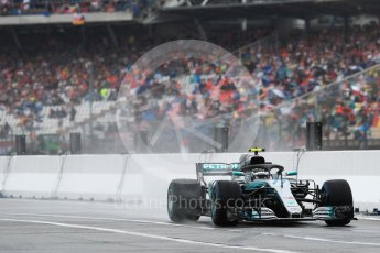 World © Octane Photographic Ltd. Formula 1 – German GP - Practice 3. Mercedes AMG Petronas Motorsport AMG F1 W09 EQ Power+ - Valtteri Bottas. Hockenheimring, Baden-Wurttemberg, Germany. Saturday 21st July 2018.