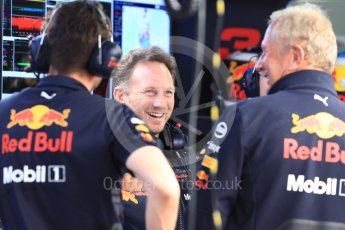 World © Octane Photographic Ltd. Formula 1 – German GP - Practice 3. Christian Horner - Team Principal of Red Bull Racing. Hockenheimring, Baden-Wurttemberg, Germany. Saturday 21st July 2018.