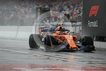 World © Octane Photographic Ltd. Formula 1 – German GP - Practice 3. McLaren MCL33 – Stoffel Vandoorne. Hockenheimring, Baden-Wurttemberg, Germany. Saturday 21st July 2018.
