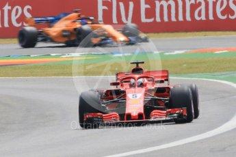 World © Octane Photographic Ltd. Formula 1 – German GP - Qualifying. Scuderia Ferrari SF71-H – Sebastian Vettel and McLaren MCL33 – Fernando Alonso. Hockenheimring, Baden-Wurttemberg, Germany. Saturday 21st July 2018.
