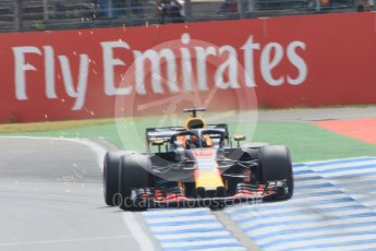 World © Octane Photographic Ltd. Formula 1 – German GP - Qualifying. Aston Martin Red Bull Racing TAG Heuer RB14 – Daniel Ricciardo. Hockenheimring, Baden-Wurttemberg, Germany. Saturday 21st July 2018.