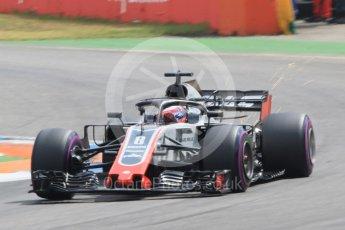 World © Octane Photographic Ltd. Formula 1 – German GP - Qualifying. Haas F1 Team VF-18 – Romain Grosjean. Hockenheimring, Baden-Wurttemberg, Germany. Saturday 21st July 2018.