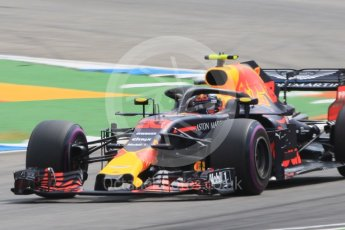 World © Octane Photographic Ltd. Formula 1 – German GP - Qualifying. Aston Martin Red Bull Racing TAG Heuer RB14 – Max Verstappen. Hockenheimring, Baden-Wurttemberg, Germany. Saturday 21st July 2018.