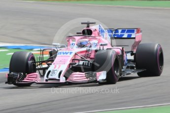 World © Octane Photographic Ltd. Formula 1 – German GP - Qualifying. Sahara Force India VJM11 - Sergio Perez. Hockenheimring, Baden-Wurttemberg, Germany. Saturday 21st July 2018.