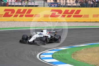 World © Octane Photographic Ltd. Formula 1 – German GP - Qualifying. Williams Martini Racing FW41 – Sergey Sirotkin. Hockenheimring, Baden-Wurttemberg, Germany. Saturday 21st July 2018.