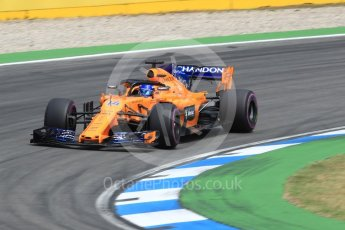 World © Octane Photographic Ltd. Formula 1 – German GP - Race. McLaren MCL33 – Fernando Alonso. Hockenheimring, Baden-Wurttemberg, Germany. Sunday 22nd July 2018.
