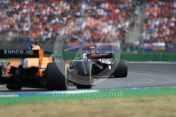 World © Octane Photographic Ltd. Formula 1 – German GP - Race. Alfa Romeo Sauber F1 Team C37 – Charles Leclerc and McLaren MCL33 – Fernando Alonso. Hockenheimring, Baden-Wurttemberg, Germany. Sunday 22nd July 2018.