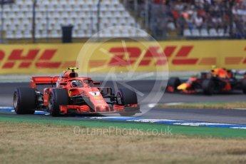 World © Octane Photographic Ltd. Formula 1 – German GP - Race. Scuderia Ferrari SF71-H – Kimi Raikkonen and Aston Martin Red Bull Racing TAG Heuer RB14 – Max Verstappen. Hockenheimring, Baden-Wurttemberg, Germany. Sunday 22nd July 2018.