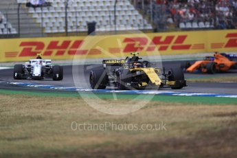 World © Octane Photographic Ltd. Formula 1 – German GP - Race. Renault Sport F1 Team RS18 – Carlos Sainz, Alfa Romeo Sauber F1 Team C37 – Charles Leclerc and McLaren MCL33 – Fernando Alonso. Hockenheimring, Baden-Wurttemberg, Germany. Sunday 22nd July 2018.