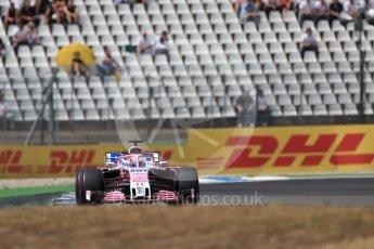 World © Octane Photographic Ltd. Formula 1 – German GP - Race. Sahara Force India VJM11 - Sergio Perez. Hockenheimring, Baden-Wurttemberg, Germany. Sunday 22nd July 2018.