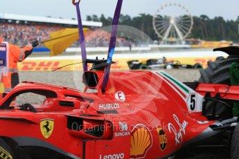 World © Octane Photographic Ltd. Formula 1 – German GP - Race. Scuderia Ferrari SF71-H – Sebastian Vettel and Renault Sport F1 Team RS18 – Carlos Sainz. Hockenheimring, Baden-Wurttemberg, Germany. Sunday 22nd July 2018.