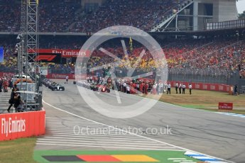 World © Octane Photographic Ltd. Formula 1 – German GP - Race. Ready for green flag lap. Hockenheimring, Baden-Wurttemberg, Germany. Sunday 22nd July 2018.