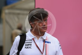 World © Octane Photographic Ltd. Formula 1 - German GP - Paddock. Andy Stevenson - Sporting Director of Sahara Force India. Hockenheimring, Baden-Wurttemberg, Germany. Sunday 22nd July 2018.
