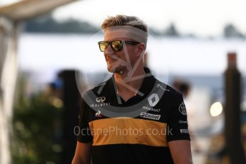 World © Octane Photographic Ltd. Formula 1 – German GP - Paddock. Renault Sport F1 Team RS18 – Nico Hulkenberg. Hockenheimring, Baden-Wurttemberg, Germany. Friday 20th July 2018.