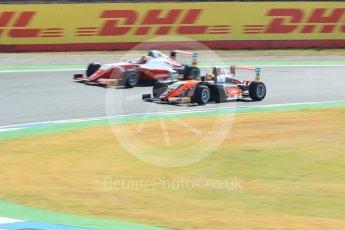 World © Octane Photographic Ltd. ADAC Formula 4 (F4). Van Amersfoort Racing - Liam Lawson and Prema Theodore Racing - Jack Doohan. Hockenheimring Practice, Baden-Wurttemberg, Germany. Thursday 19th July 2018.