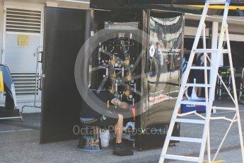 World © Octane Photographic Ltd. Formula 1 – German GP - Pitlane. Renault Sport F1 Team RS18 – air gun control rig. Hockenheimring, Baden-Wurttemberg, Germany. Thursday 19th July 2018.