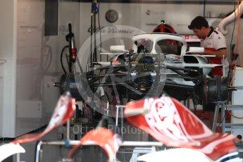World © Octane Photographic Ltd. Formula 1 – German GP - Pitlane. Alfa Romeo Sauber F1 Team C37. Hockenheimring, Baden-Wurttemberg, Germany. Thursday 19th July 2018.