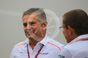 World © Octane Photographic Ltd. Formula 1 - German GP - Paddock. Gil De Ferran - Sporting Director of McLaren. Hockenheimring, Baden-Wurttemberg, Germany. Saturday 21st July 2018.