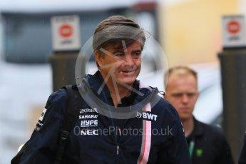 World © Octane Photographic Ltd. Formula 1 - German GP - Paddock. Andy Stevenson – Sporting Director of Sahara Force India. Hockenheimring, Baden-Wurttemberg, Germany. Saturday 21st July 2018.