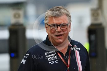 World © Octane Photographic Ltd. Formula 1 - German GP - Paddock. Otmar Szafnauer - Chief Operating Officer of Sahara Force India. Hockenheimring, Baden-Wurttemberg, Germany. Saturday 21st July 2018.