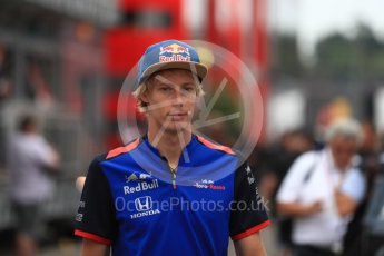World © Octane Photographic Ltd. Formula 1 – German GP - Paddock. Scuderia Toro Rosso STR13 – Brendon Hartley. Hockenheimring, Baden-Wurttemberg, Germany. Saturday 21st July 2018.