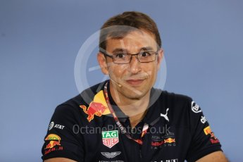 World © Octane Photographic Ltd. Formula 1 - British GP - Friday FIA Team Press Conference. Pierre Wache – Technical Director at Red Bull Racing. Hockenheimring, Baden-Wurttemberg, Germany. Thursday 19th July 2018.