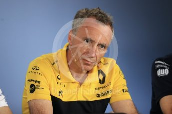 World © Octane Photographic Ltd. Formula 1 - British GP – Friday FIA Team Press Conference. Bob Bell – Chief Technical Officer at Renault Sport Formula 1 Team. Hockenheimring, Baden-Wurttemberg, Germany. Thursday 19th July 2018.