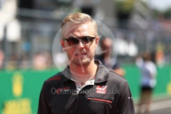 World © Octane Photographic Ltd. Formula 1 – Hungarian GP - Drivers' Parade. Haas F1 Team VF-18 – Kevin Magnussen. Hungaroring, Budapest, Hungary. Sunday 29th July 2018.