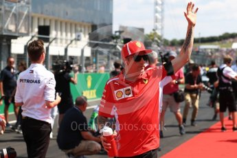 World © Octane Photographic Ltd. Formula 1 – Hungarian GP - Drivers' Parade. Scuderia Ferrari SF71-H – Kimi Raikkonen. Hungaroring, Budapest, Hungary. Sunday 29th July 2018.