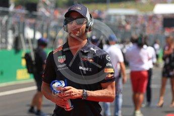 World © Octane Photographic Ltd. Formula 1 – Hungarian GP - Drivers' Parade. Aston Martin Red Bull Racing TAG Heuer RB14 – Daniel Ricciardo. Hungaroring, Budapest, Hungary. Sunday 29th July 2018.