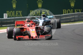 World © Octane Photographic Ltd. Formula 1 – Hungarian GP - Green flag lap. Scuderia Ferrari SF71-H – Sebastian Vettel. Hungaroring, Budapest, Hungary. Sunday 29th July 2018.